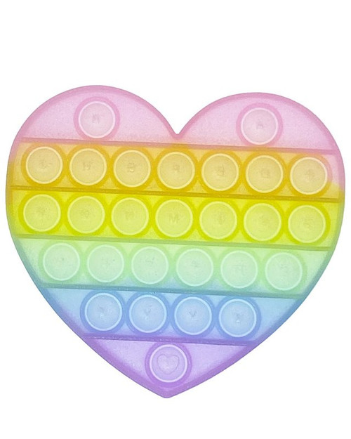 Glitter Heart Pop Fidgety