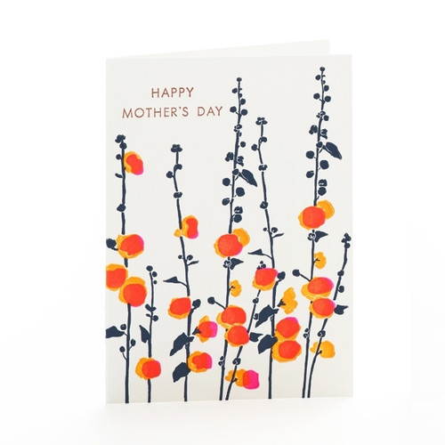 Hollyhock Mother's Day Card