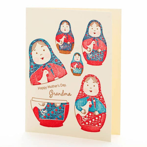 Nesting Doll Happy Mother's Day Grandma Card
