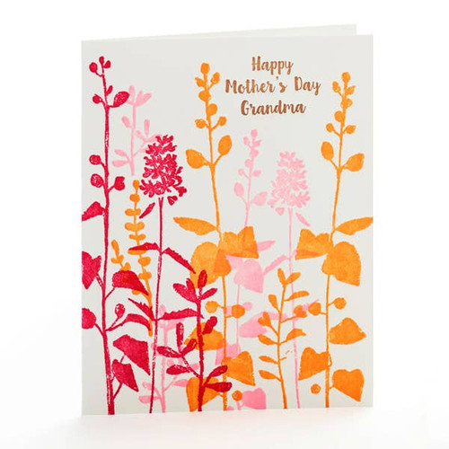 Pink Flowers Happy Mother's Day Grandma Card