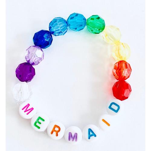 Mermaid Rainbow Beaded Bracelet