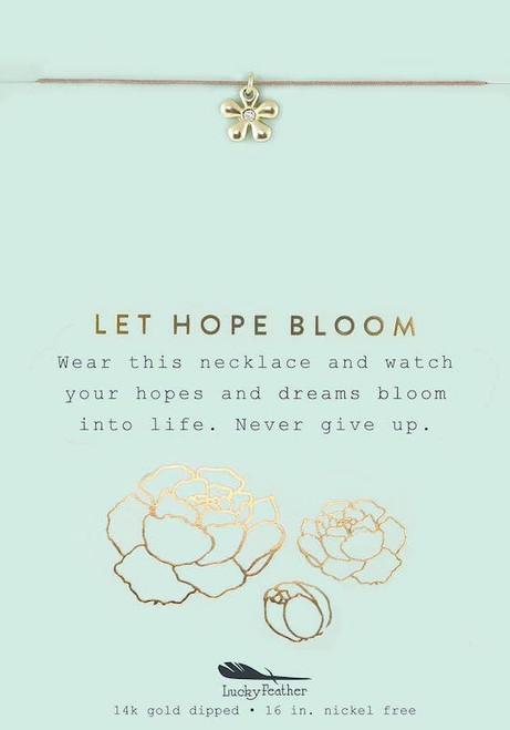 Hope Flower Necklace