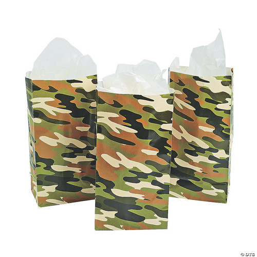 Camouflage Party Favor Bag