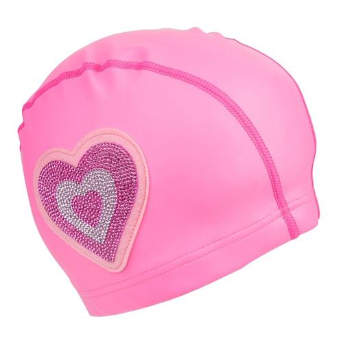Swim Cap: Pink Heart