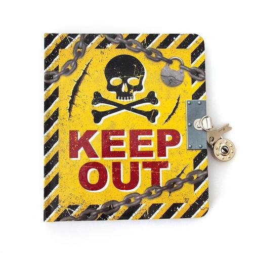 Keep Out Lock & Key Diary