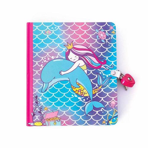 Mermaid & DolphinLock & Key  Diary