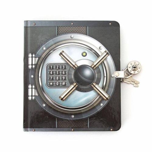 Safe Lock & Key Diary