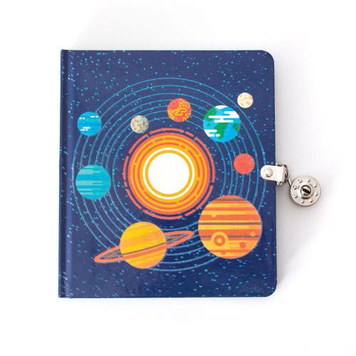 Solar System Lock & Key Diary