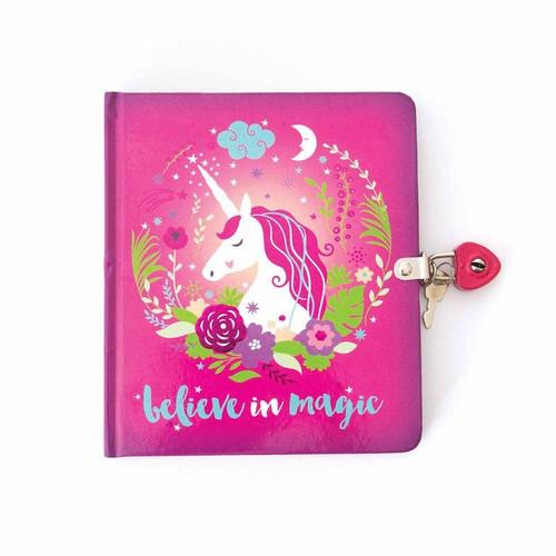 Unicorn Lock & Key Diary