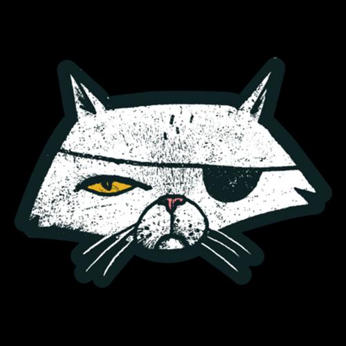 Pirate Cat Vinyl Sticker