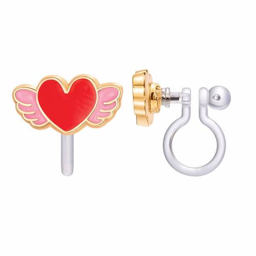 Angel Heart Clip On Earrings