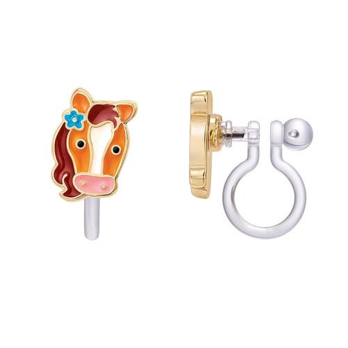 Pony Clip On Earrings