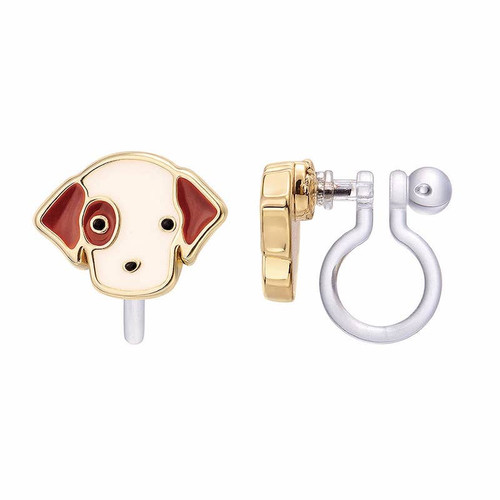 Puppy Clip On Earring