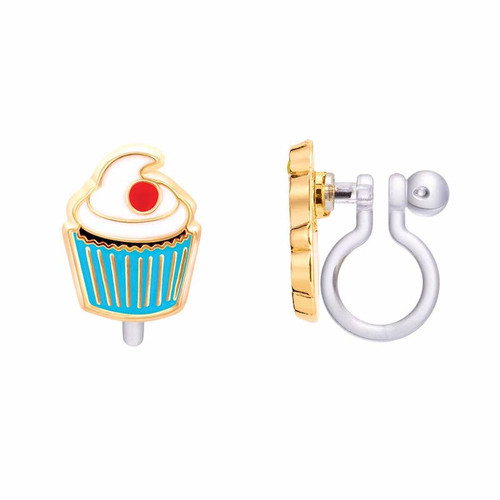 Cupcake Clip On Earrings