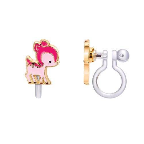 Deer Clip On Earrings
