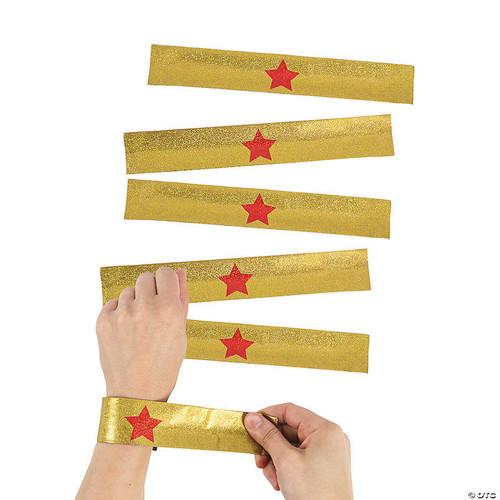 Gold Star Slap Bracelet