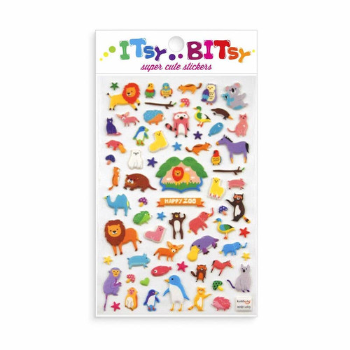 Itsby Bitsy Stickers: Happy Zoo