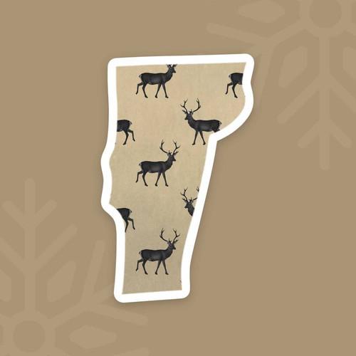 Vermont Deer Vinyl Sticker