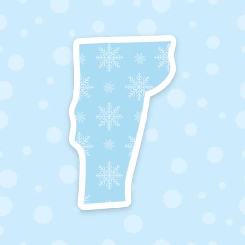 Vermont Snowflake Vinyl Sticker