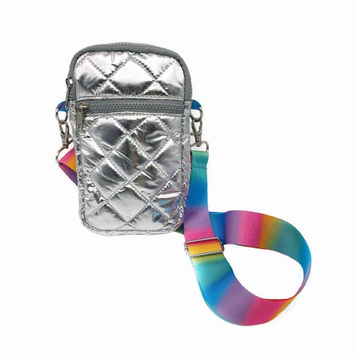Silver Puffer Bag