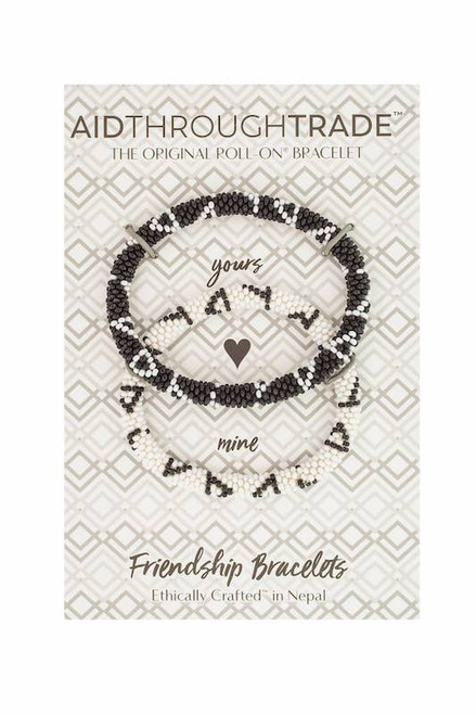 Roll-On Friendship Bracelets Black & White