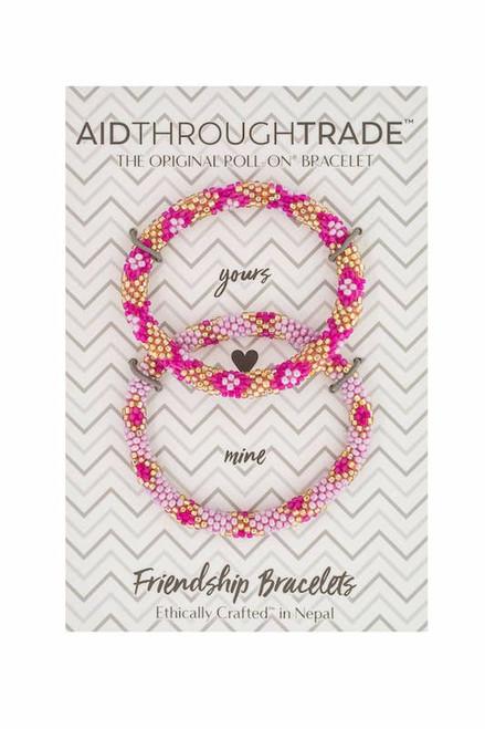 Roll-On Friendship Bracelets Pink