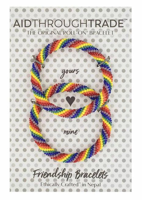 Roll-On Friendship Bracelets Rainbow