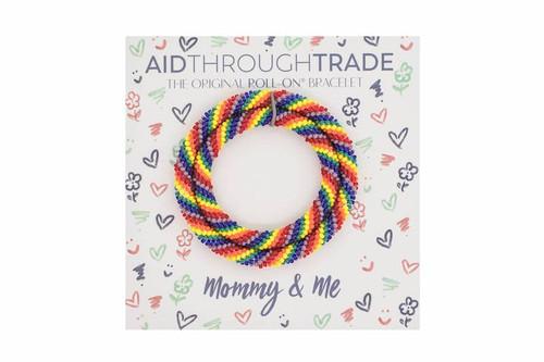 Mommy & Me Roll-On Bracelets Rainbow