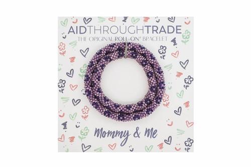 Mommy & Me Roll-On Bracelets Mauve