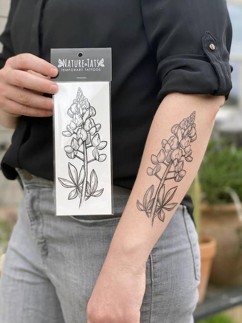 Bluebonnet Temporary Tattoo