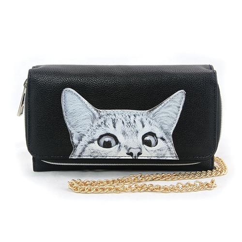 Peeking Cat Wallet Bag
