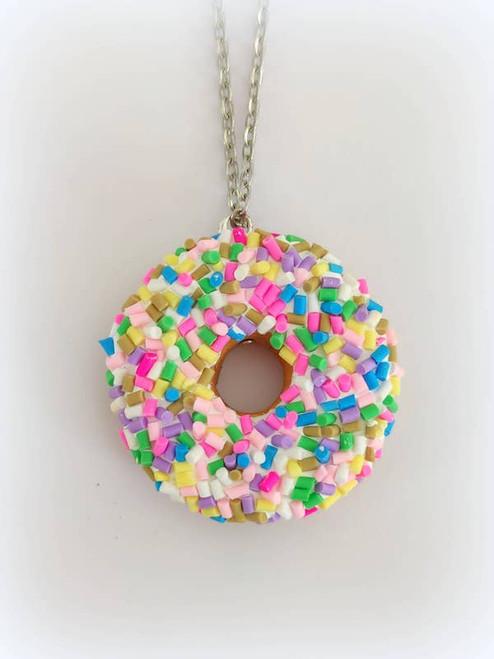 Sprinkle Donut Necklace
