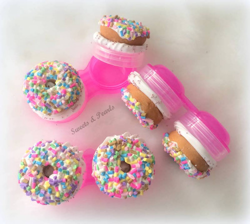 Sprinkle Donut Contact Lens Case