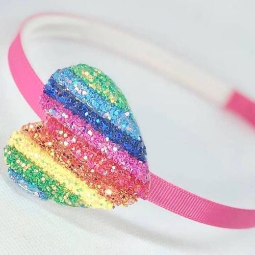 Rainbow Heart Headband