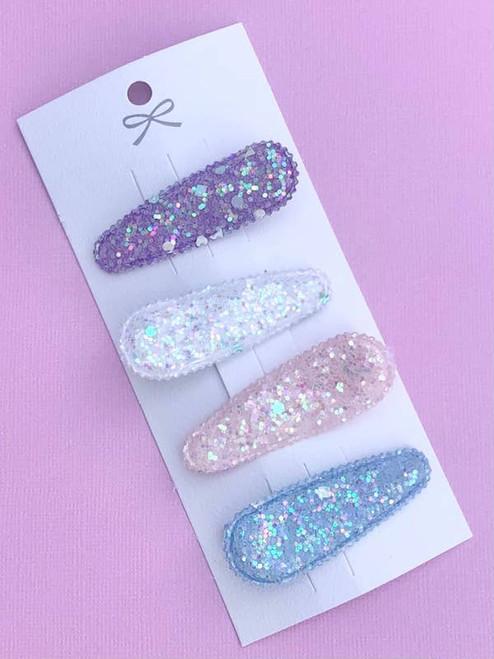 Glitter Pastel Hair Clips