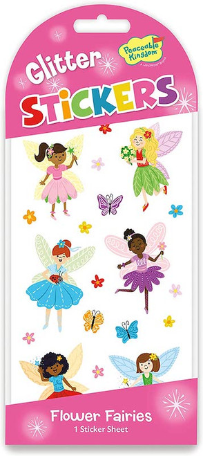 Glitter Flower Fairies Stickers