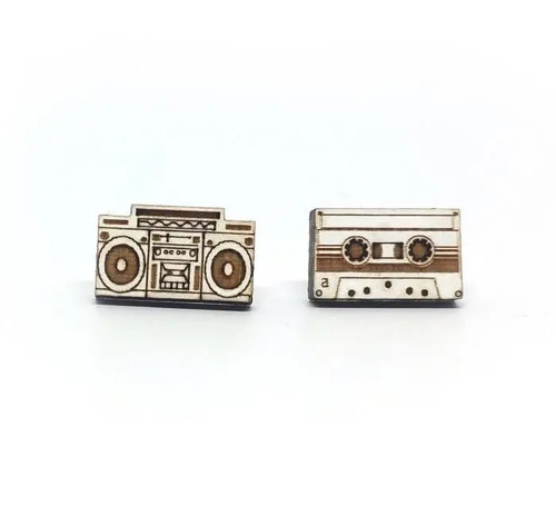 Boombox & Tape Earrings