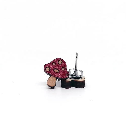 Red Mushroom Earrings