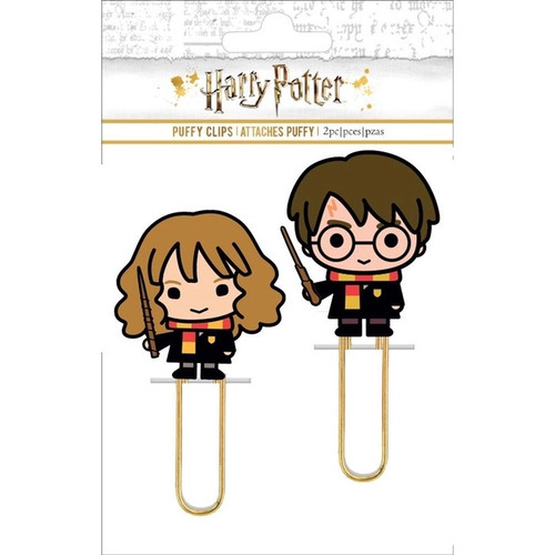Harry & Hermione Puffy Clips