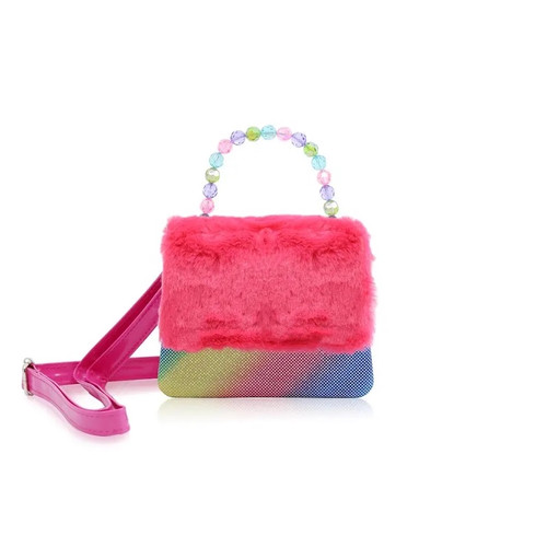 Pink Rainbow Plush Bag