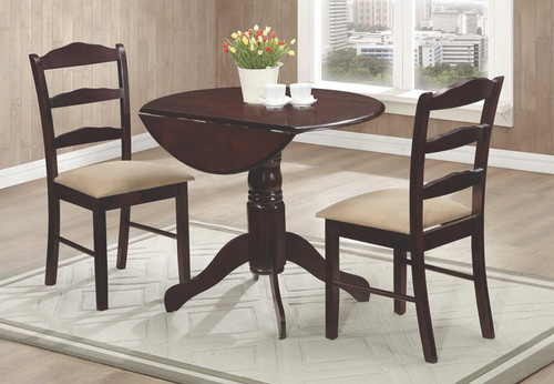 3 Piece Kitchen Table And Chairs - Drop Leaf