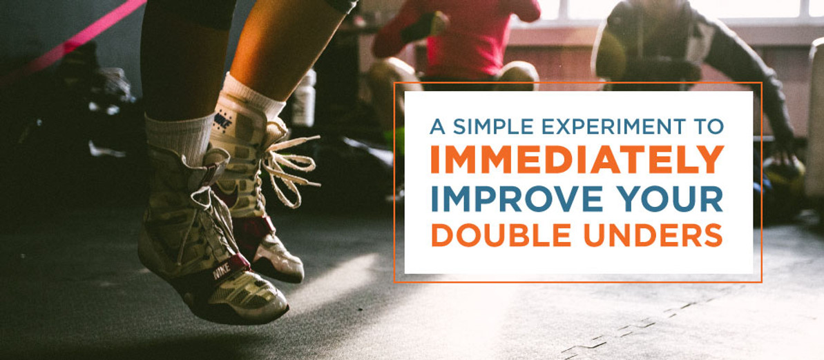 A Simple Experiment to Immediately Improve Your Double Unders