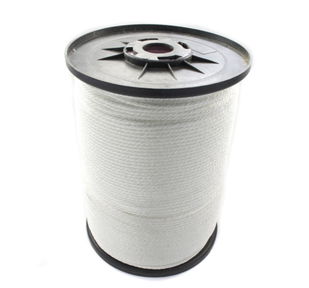 A 100 foot spool of braided nylon used for making jump ropes.