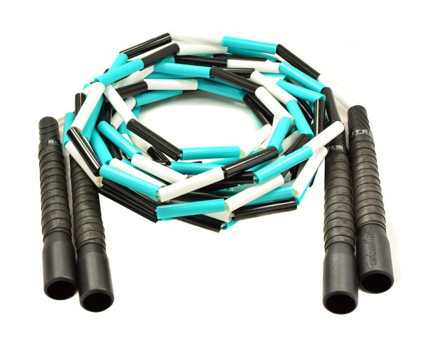 Hand Made In USA Beaded Double Jump Ropes Dutch Sports /& Silver//Black