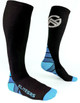 blue fitness compression socks