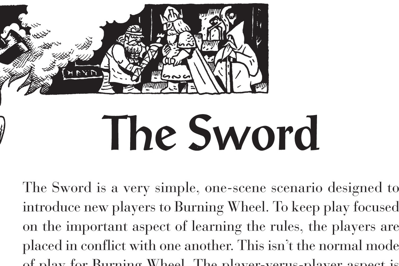 The Sword Demo Adventure - Burning Wheel