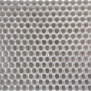 PG8 Silver Penny Round Mosaic Tiles