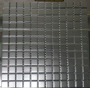 Black matte square porcelain mosaic tiles