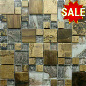 Brass and Glass Mosaic Tiles