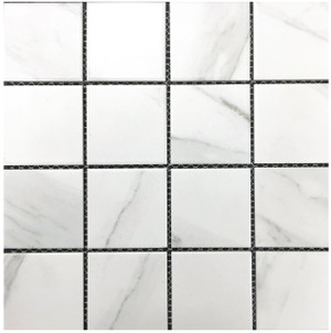 Carrara look porcelain mosaic tiles